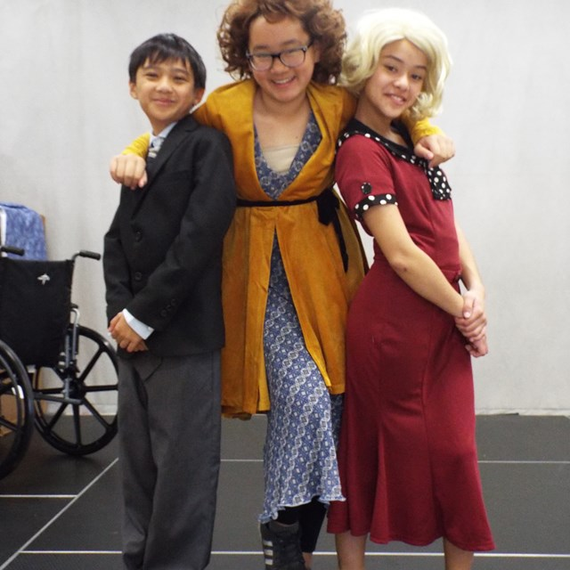 Stars of the Annie Musical